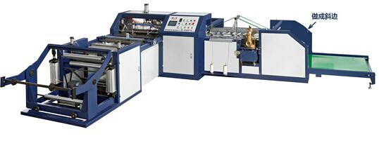 QF-850编织袋全自动切缝机Plastic Woven bag automatic cutting and sewing machine